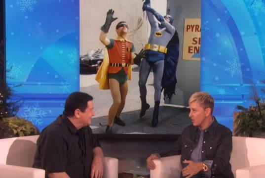 Burt Ward on the Ellen DeGeneres Show talking about Gentle Giants Foundation and Dog Food