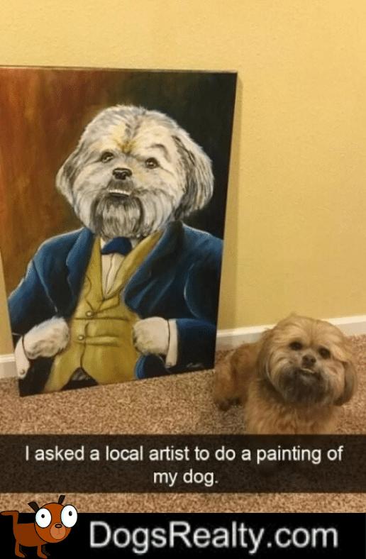 Dog Meme Portrait